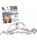 Metal Handcuffs with Extra Long Chain